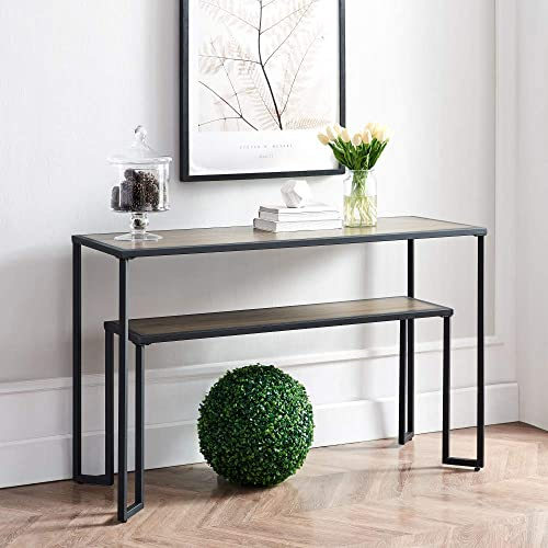 Industrial Coffee Table 2-Tier Wood and Metal Table Review