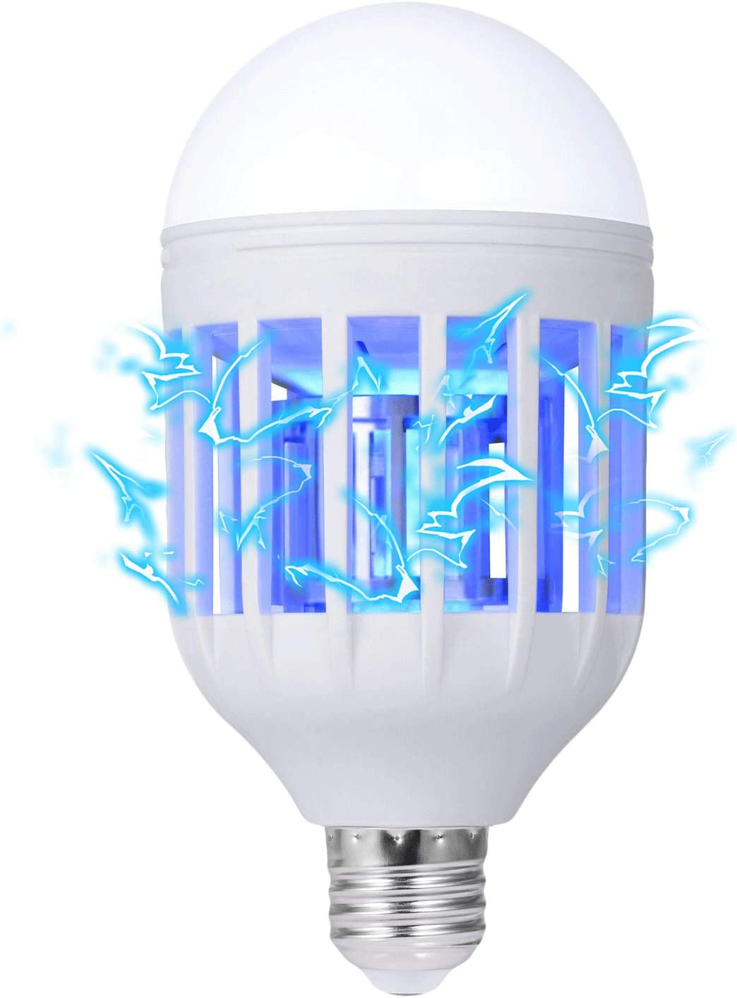 Electric Mosquito Fly Bug Insect Trap LED Socket Night Lamp Killer Zapper Blue