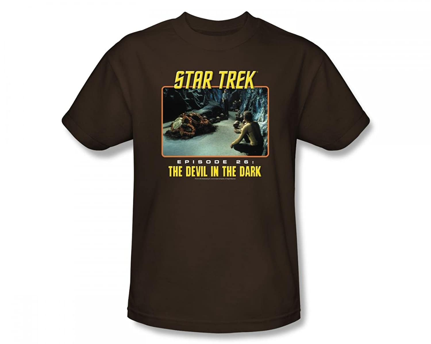 Star Trek - St / Devil In The Dark Adult T-Shirt In Coffee