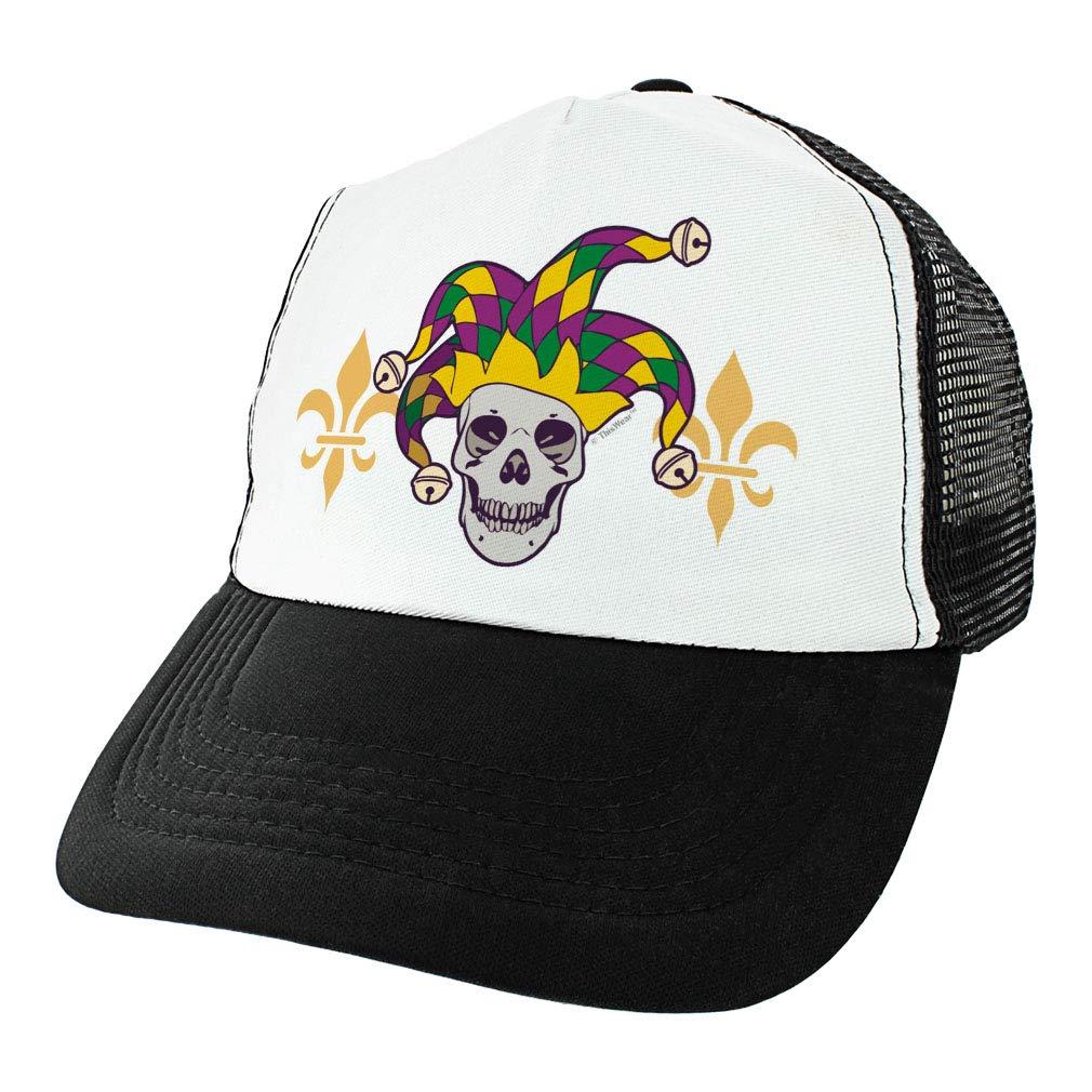 Mardi Gras Hat Mardi Gras Skull Jester Fleur-de-lis Mardi Gras Colored Mardi Gras Attire Trucker Hat