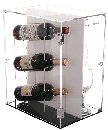 Amazoncom Sooyee Deluxe Acrylic Wine Cabinets360 Degree Rotating