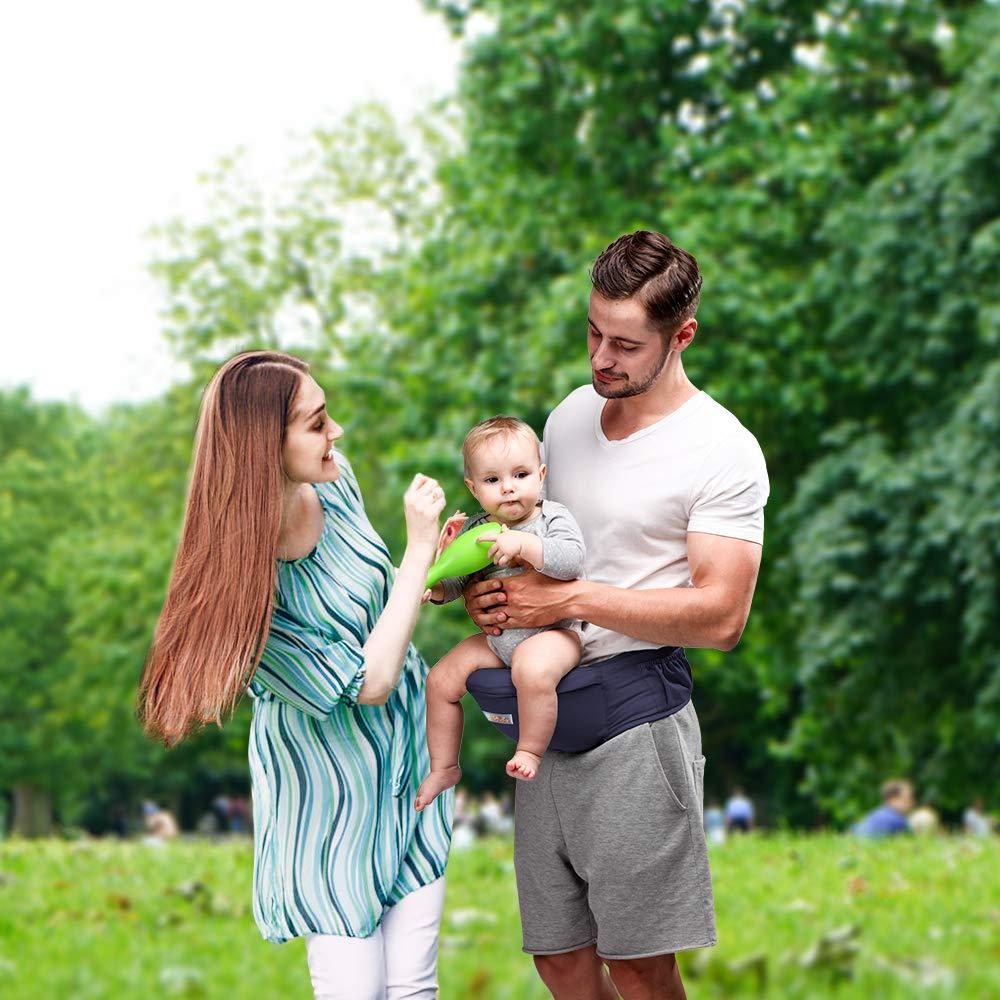 Jolicobo Baby H/üftsitz Leichte Taille Hocker 4 Tragepositionen Multifunktional Babytrage mit Einstellbar l/änger G/ürtel und Ergonomischer Multi-Position f/ür Kinder 0-36 Monate Blau