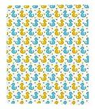 Chaoran 1 Fleece Blanket on Amazon Super Silky Soft All Season Super Plush Rubber Duck etBaby Ducklings Pattern with Cute Little Hearts Love Animals Print Nursery Fabric Decor Extra Orange
