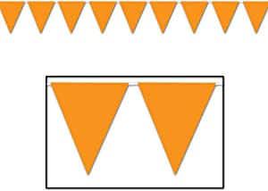 Indoor/Outdoor Pennant Banner (orange) Party Accessory(1 count) (1/Pkg)