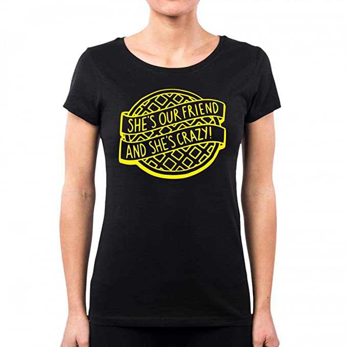 PacDesign Camiseta Mujer Stranger Things Cookie Yellow Pd1556a: Amazon.es: Ropa y accesorios