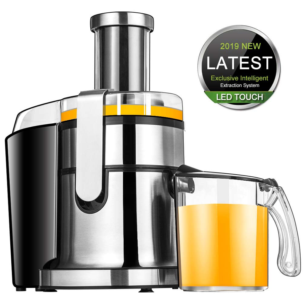 Juice Machine SOMOYA Liquid-Crystal Displayr Centrifugal Electric juicers 800W Touch Control Panel Juicer Machine AC 110V BPA Free, Extract More Fruit and Vegetable Juice and Easy to Clean