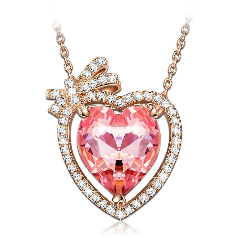 NINASUN Enamorado Plata Rosa Fabricados con Cristales SWAROVSKI® Oro de Rose Plateado