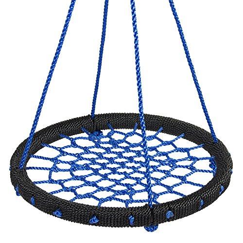 """Swing Playground Tree Outdoor Hanging 24"""" Web Swing Nylon Net Rope"""