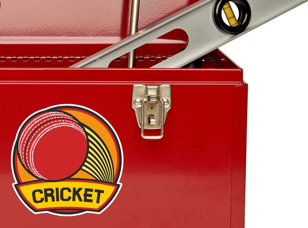 2 x 25cm//250mm Cricket Vinyl Stickers Sports #7232