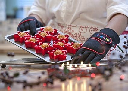 Barbacoa Cocinar Guantes y guantes de horno guantes de horno características negro talla XL 250 °