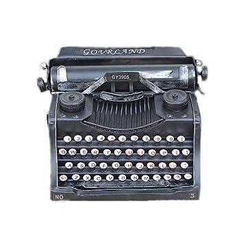 ZhongYi Adornos de máquina de Escribir Antigua Vintage del Hierro: Amazon.es: Jardín
