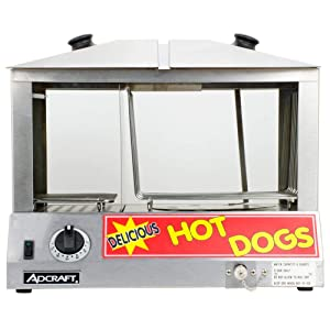 Adcraft Countertop Stainless Steel Hot Dog Steamer, 6 Quart - 1 each.
