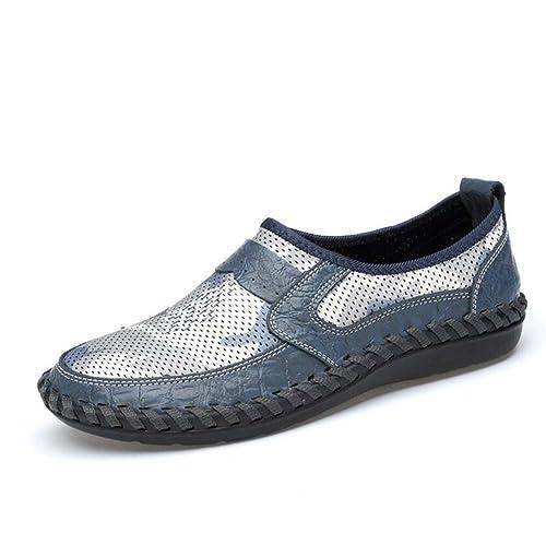 Zapatos de Hombre Cuero Cuero Primavera Verano Comfort Mocasines y Slip-Ons Marrón Verde Azul: Amazon.es: Zapatos y complementos