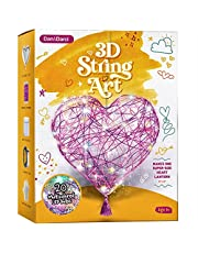 3D String Art Kit for Kids - Makes a Light-Up Heart Lantern - 20 Multi-Colored LED Bulbs - Kids Gifts - Crafts for Girls and Boys Ages 8-12 - DIY Arts & Craft Kits for 8, 9, 10, 11, 12 Year Old Girl
