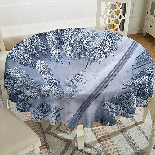 Tim1Beve Scenery Waterproof Table Cover Winter Themed Landscape for Events Party Restaurant Dining Table Cover D36 -