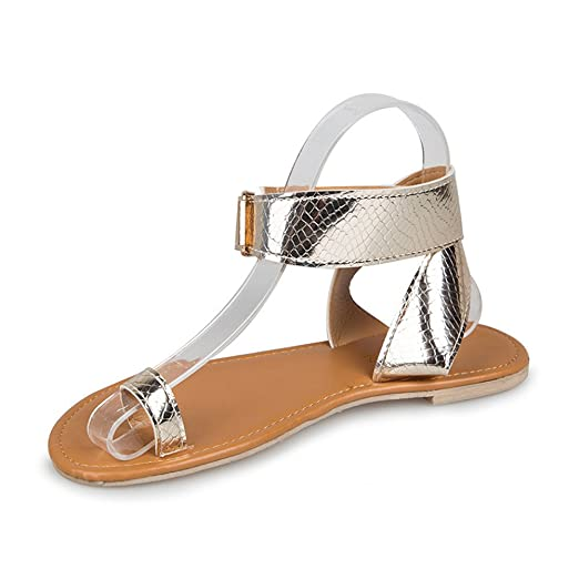 ffb9ac63fcd TOTOD Sandals Summer Beach Low Flat Flip Flops Women Cross Belt Rome  Strappy Gladiator Shoes Rose