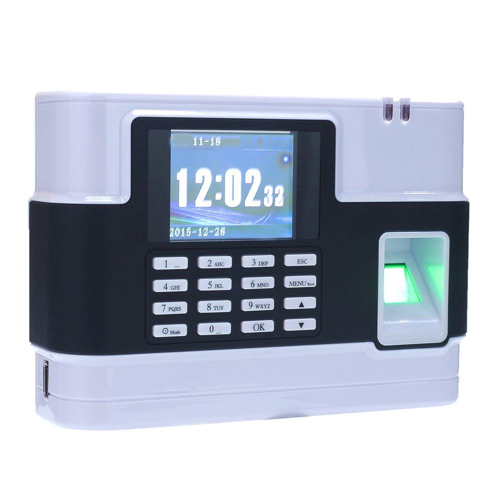 KKmoon Sistema de Huella Digital ,Pantalla de 2.8 TCP/IP,500 DPI ,Capacidad de Huellas Digitales: 3000 ,T9 Entrada para Oficina /Fábrica/ Hotel/ Escuela/ ...