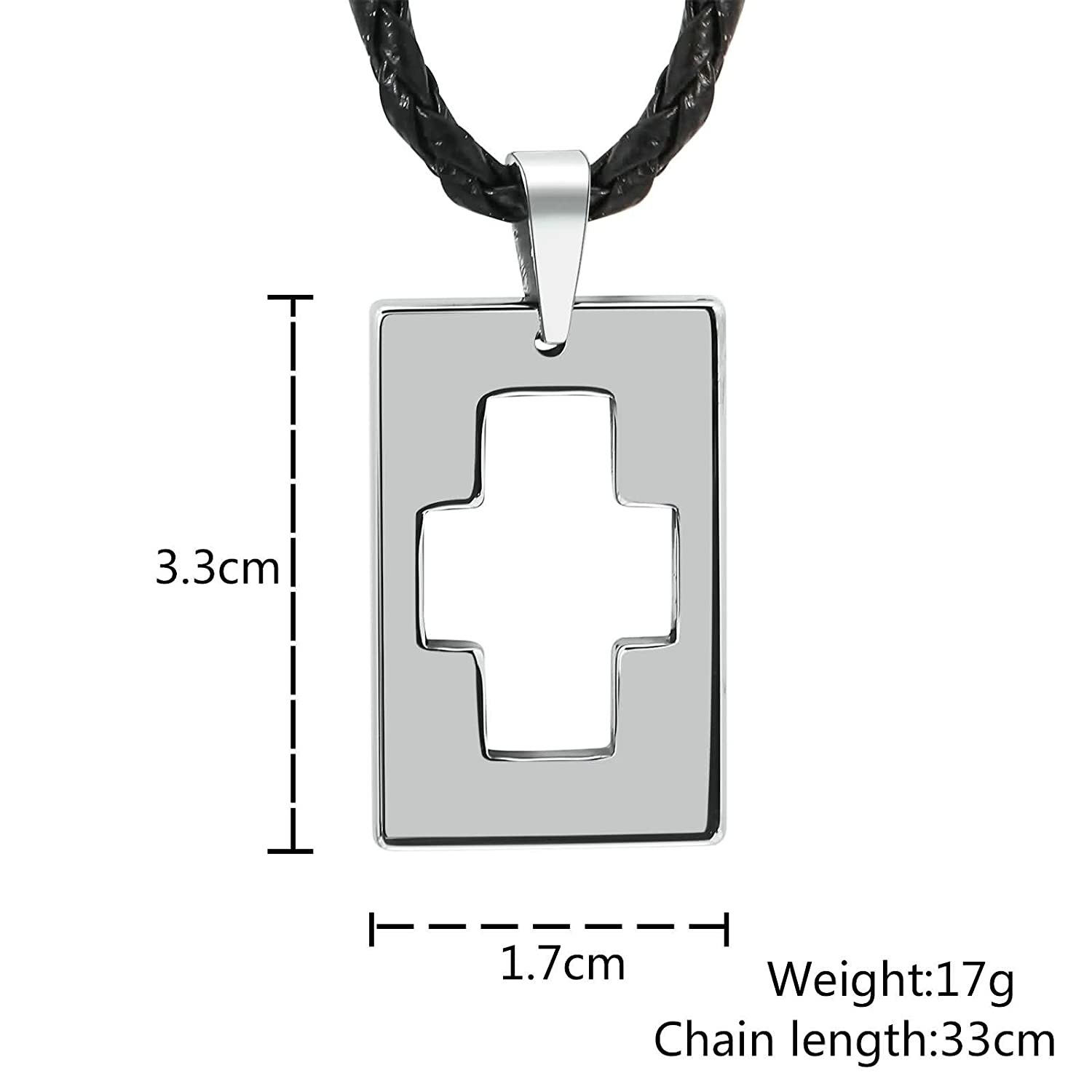 Aooaz Jewelry Material Silver Chain Necklace Rectangle Cubic Zirconia Pendant Necklace Blue