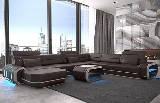 Sofa Dreams XXL salón Paisaje Roma de Color marrón Oscuro ...