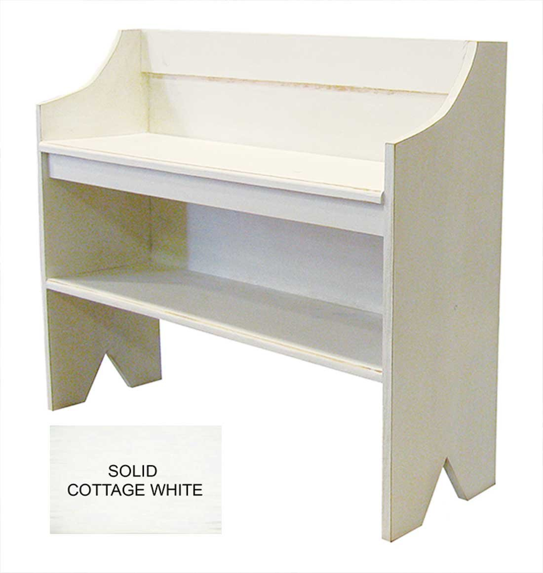 Bench with Shoe Shelf (Solid Cottage White)