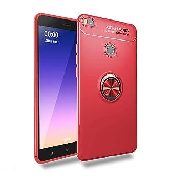 Ququcheng Funda Xiaomi Mi MAX 2,Carcasa Xiaomi Mi MAX 2 Silicona Cover+Pantalla de Vidrio Templado Absorción de Choque Resistente Caso Skin Carcasa ...