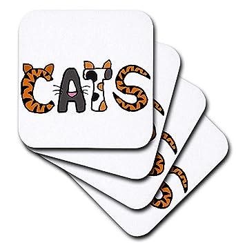 Compra CST _ 200089 todas las sonrisas arte gatos - gracioso gatos letras con cada letra un gato - posavasos, set-of-8-Soft en Amazon.es