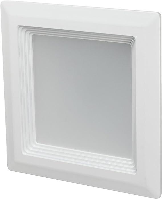 Warm White 3000K White Finish Sunlite LFX//RDL//5S//15W//DIM//30K 5 LED Square Retrofit Recessed Fixture Dimmable