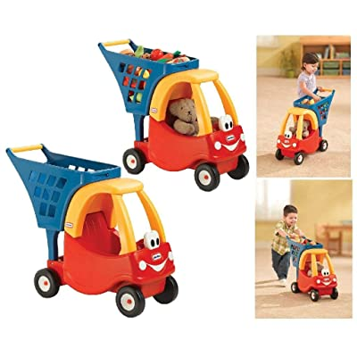 Little Tikes Cozy Shopping Cart Red/Yellow: Toys & Games