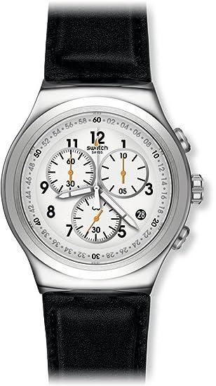 Swatch Reloj Digital para Hombre de Cuarzo con Correa en Cuero YOS451: Swatch: Amazon.es: Relojes
