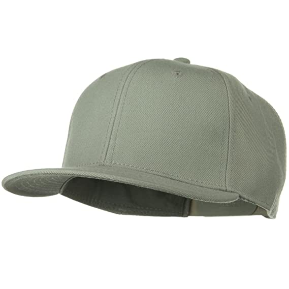 29f92ea6531 OTTO Wool Blend Flat Visor Pro Style Snapback Cap - Grey  Amazon.ca   Clothing   Accessories