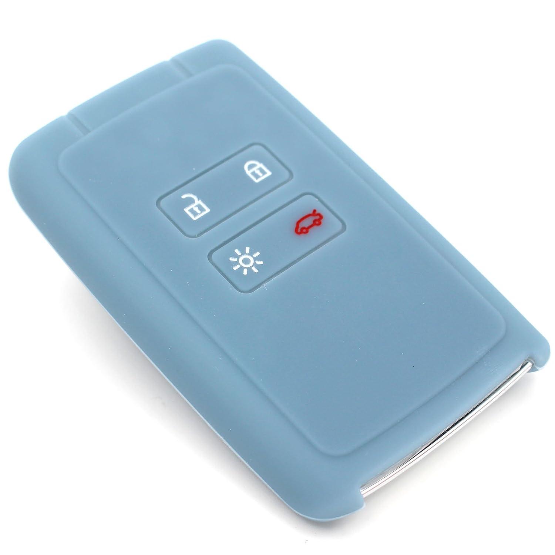 Coque en silicone Finest-Folia - Pour clé de voiture à 4boutons Gris cendre