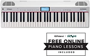 Roland GO:PIANO 61-key Digital Piano Keyboard with Alexa Built-in (GO-61P-A)