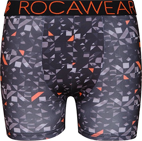 Rocawear Boy's 4 Pack Performance Boxer Brief, Camo and Orange, Small/7-8' by Rocawear (Image #1)