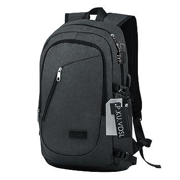 Slim Laptop Backpack, P.KU.VDSL Anti Theft USB Charging Backpack Rucksack, 4b2245a8de