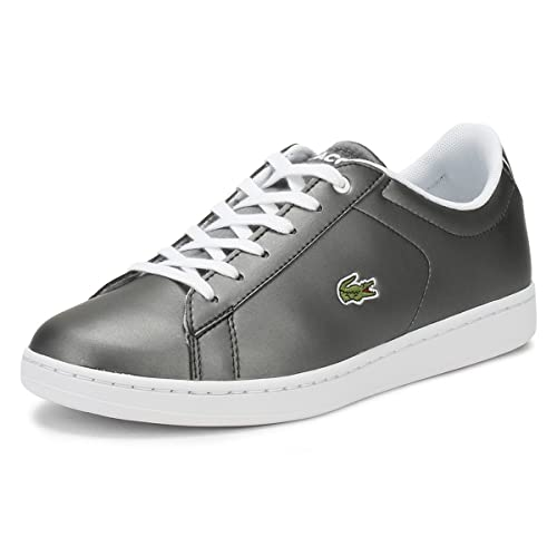 Lacoste Carnaby Evo 218 1 Gunmetal Synthetic Youth Sneakers  Amazon ... b610e3228c