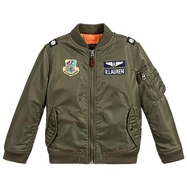 das beste exklusives Sortiment schön in der Farbe Amazon.com: RALPH LAUREN Polo Boys Utility Military Jacket 7 ...