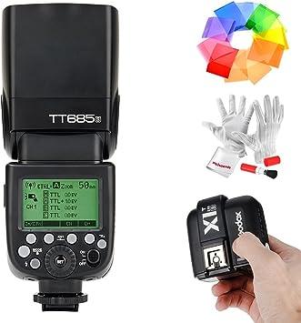 GODOX TT685S TTL Camera Flash High Speed 1//8000s GN60 Compatible for Sony DSLR Cameras+GODOX X1T-S 2.4G Wireless Flash Trigger Transmitter for Sony DSLR Cameras