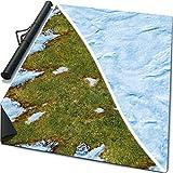 6' x 4' Double-Sided Rubber Battle Mat: Vernal Grass + Siberia + Bag