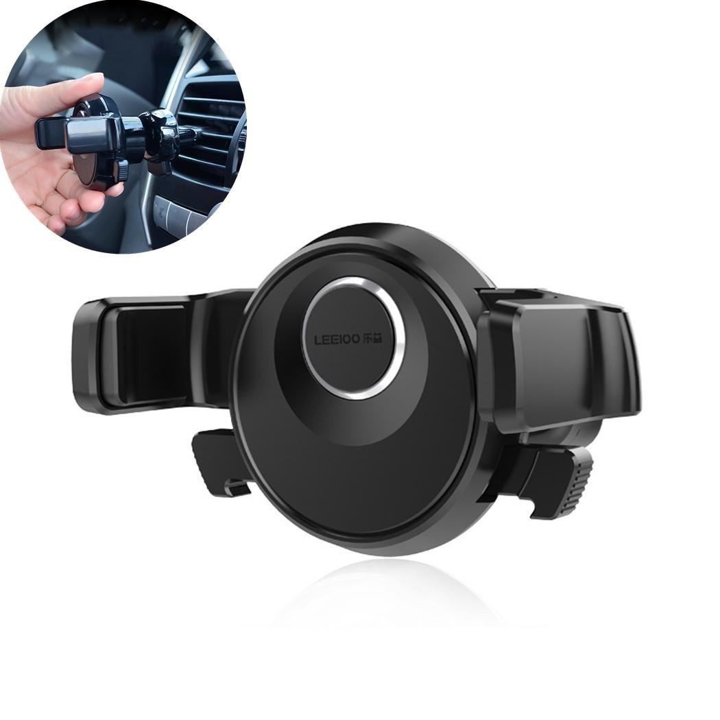 Zcar Car Phone Holder For Air Outlet 360° Rotatable Cell Phone Mount Cradle Vehicle SUV Vent Mobile Bracket For Phone X 8 7 6s 6 Plus S8