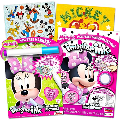 Disney Minnie Mouse Mess-Free Coloring Book and Painting Set for Toddlers and Kids (Includes Minnie Mouse ()