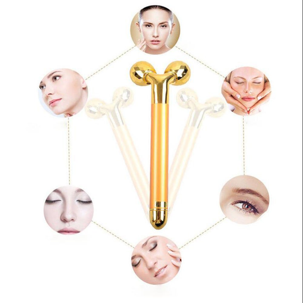 Zinnor Beauty Bar Face Massager 3D Roller Stick Face Slim V-Shaped Thin Facial Massage Tool Skin Wrinkle Remover Skincare Lady Body Care Energy Lift Mother Day\'s Gifts