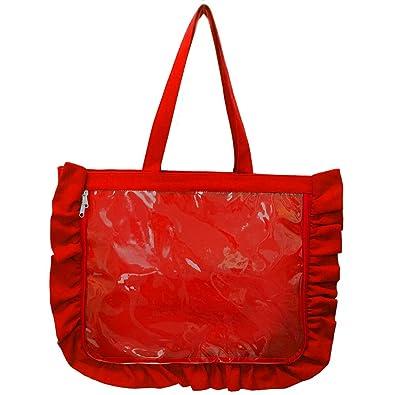 7b8d552293ab Amazon | A3 痛バッグ用トートバッグ フリルデザイン RED(レッド ...