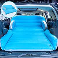 QDH SUV Air Mattress, Car Inflatable Mattress Upgraded Thickened Camping air Mattress Portable Double-Sided Flocking Surface Air Mattress with Electric Air Pump 3 in 1 Home air Sofa Bed