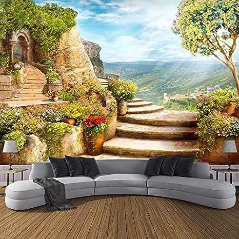 Avikalp Exclusive AWZ0029 European Garden Nature HD 3D Wallpaper(7 ft x 9  ft)