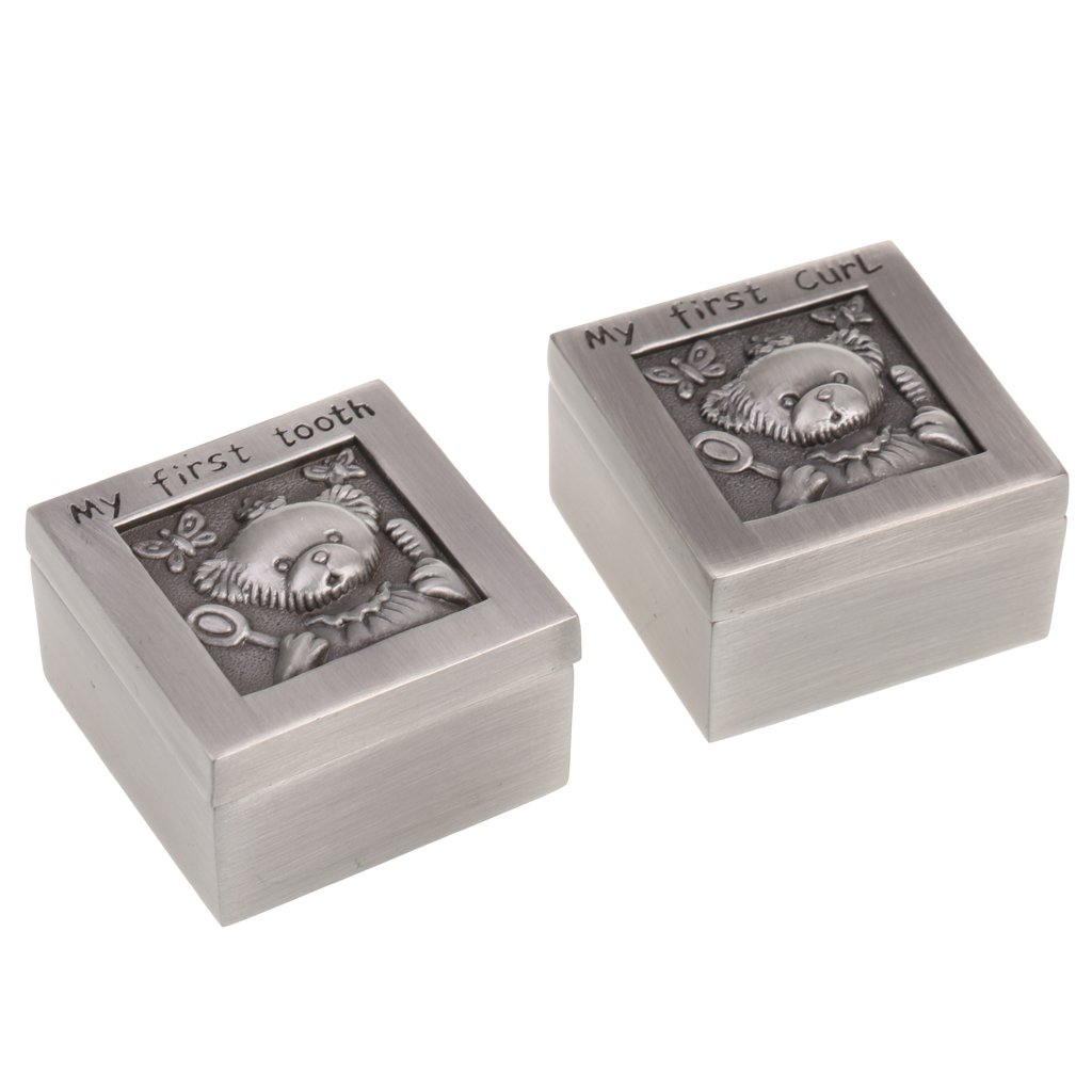 Cabinet Babies Silver First Curl /& First Tooth Keepsake Box with Storage Case Gift 7 Different Styles for Choose