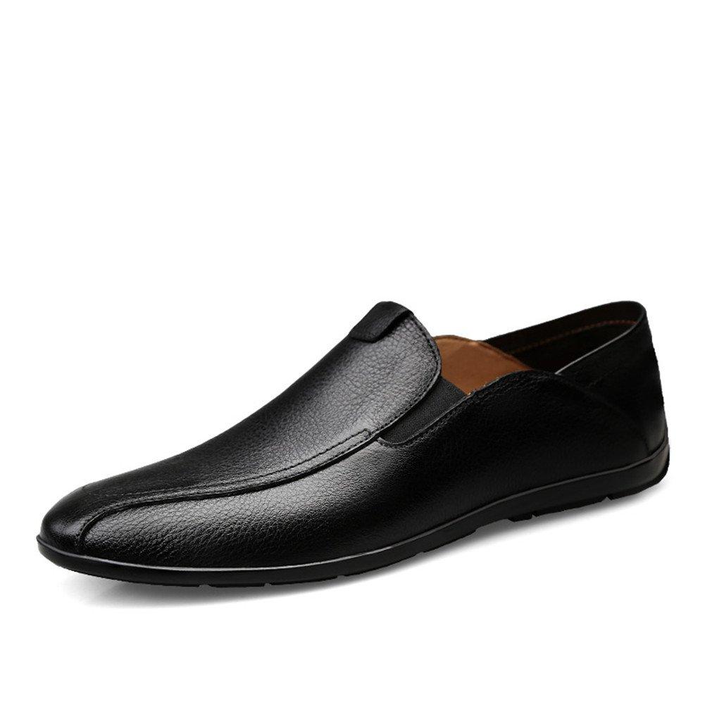 Simple Moda Mocasines Hombre Waterproof Negocios Zapatos Ponerse Casual Caminar 44 EU|Negro
