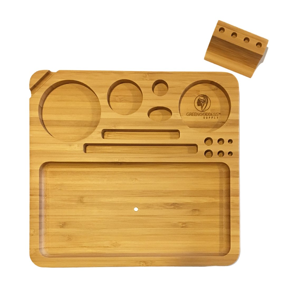 Green Goddess Supply Bamboo Wood Rolling Tray