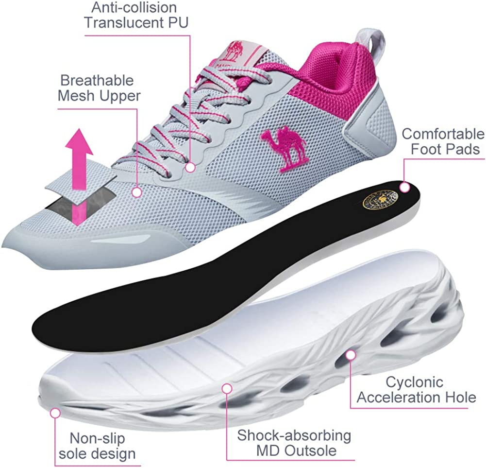 CAMELSPORTS Womens Running Shoes Cushioning Breathable Ultra Lightweight Casual Fashion Sneakers