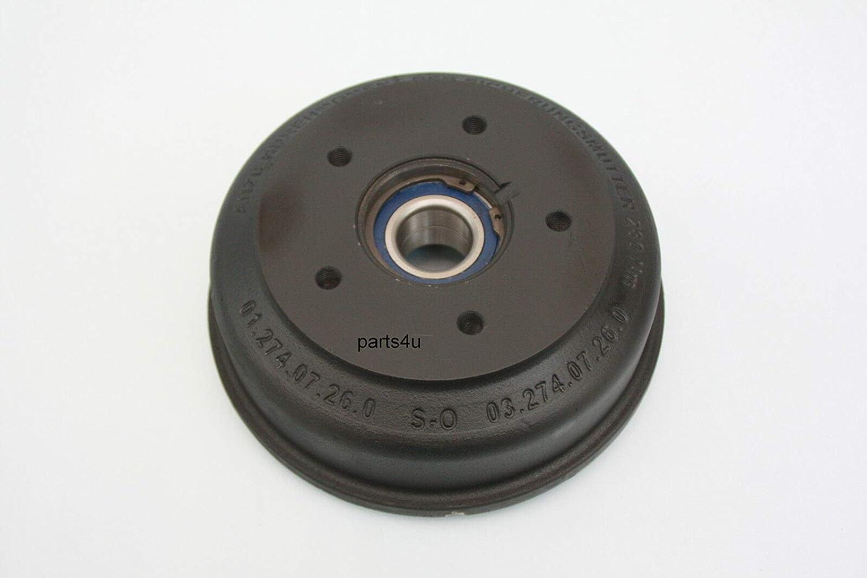 P4U Tambour de frein pour tambour de frein BPW Paderborn 2005//7 200x50 m Roulement compact LK 112x5 Vgl.n/° 03.274.07.26.0 0327407260