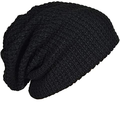 45de1eeb FORBUSITE Mens Slouchy Long Oversized Beanie Knit Cap for Summer Winter B08